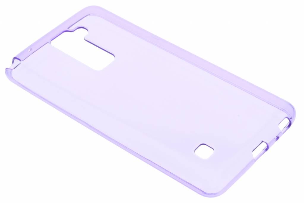 Paarse transparante gel case voor de LG Stylus 2 (Plus)