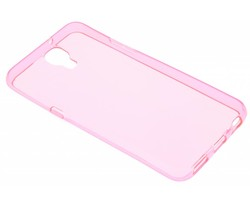 Roze transparant gel case LG X Screen