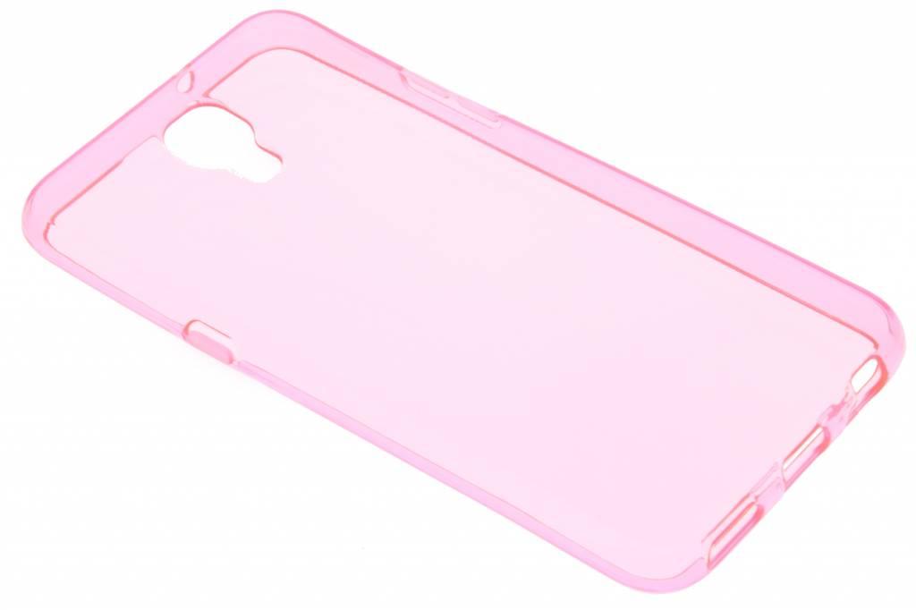 Roze transparant gel case voor de LG X Screen