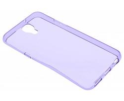 Paars transparant gel case LG X Screen