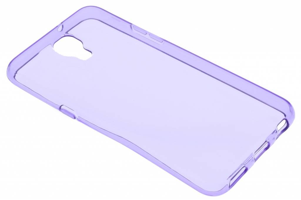 Paarse transparant gel case voor de LG X Screen