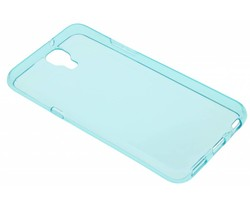 Turquoise transparant gel case LG X Screen