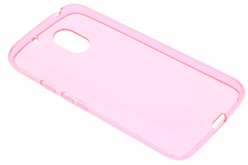 Roze transparante gel case voor de Motorola Moto G4 Play