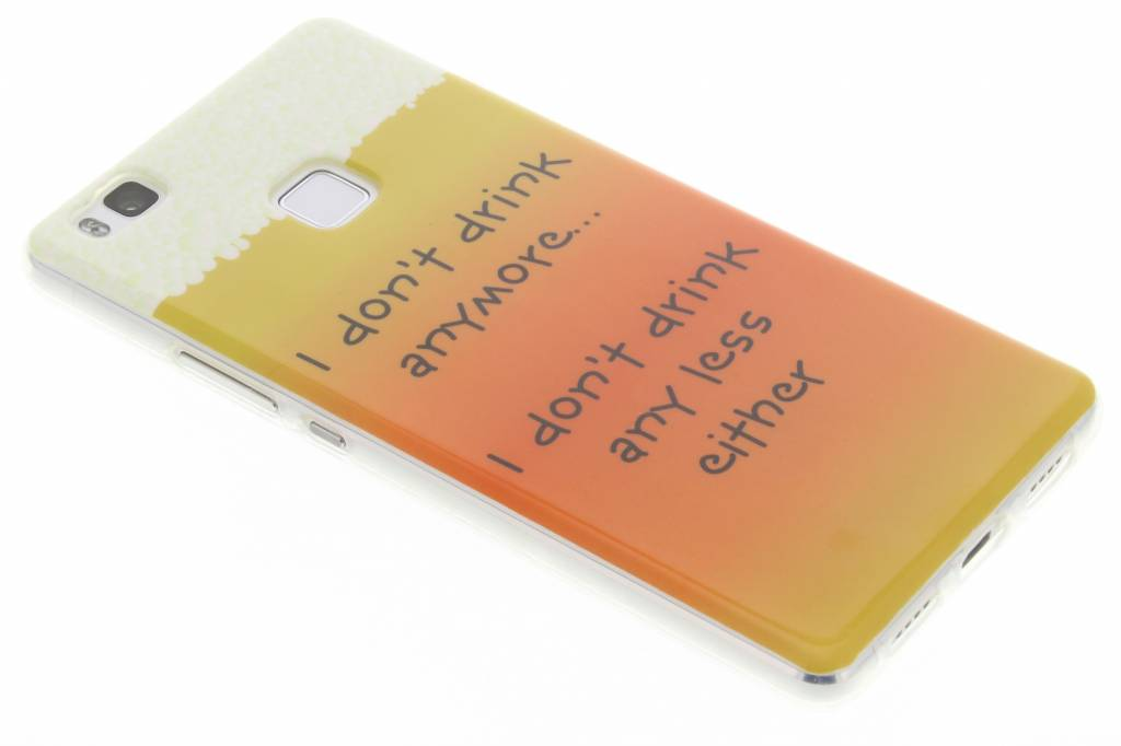 Drink design TPU siliconen hoesje voor de Huawei P9 Lite