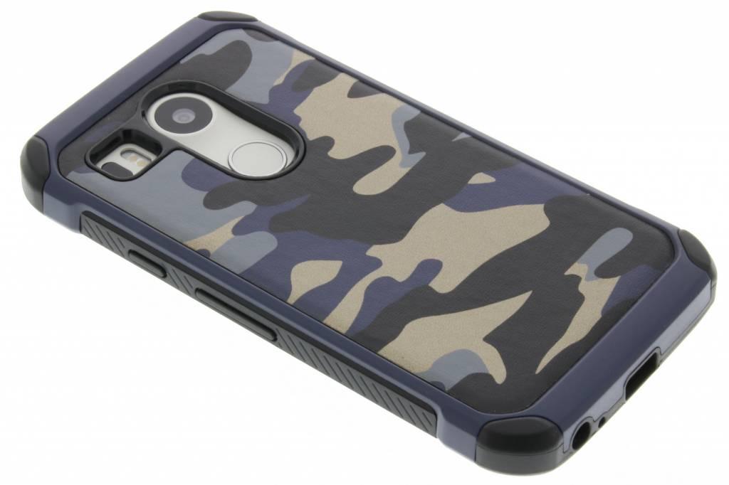 Blauw army defender hardcase hoesje voor de LG Nexus 5X