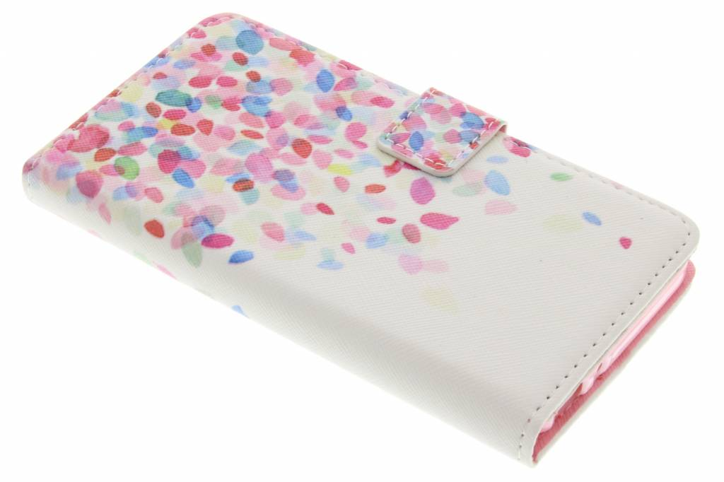 Confetti design TPU booktype hoes voor de Huawei GR3 / P8 Lite Smart