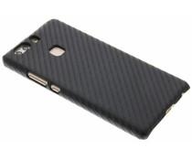 Zwart carbon look hardcase hoesje Huawei P9 Plus