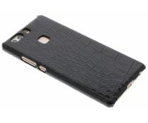 Zwart krokodil design hardcase hoesje Huawei P9 Plus