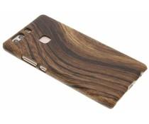 Donker hout design hardcase hoesje Huawei P9 Plus