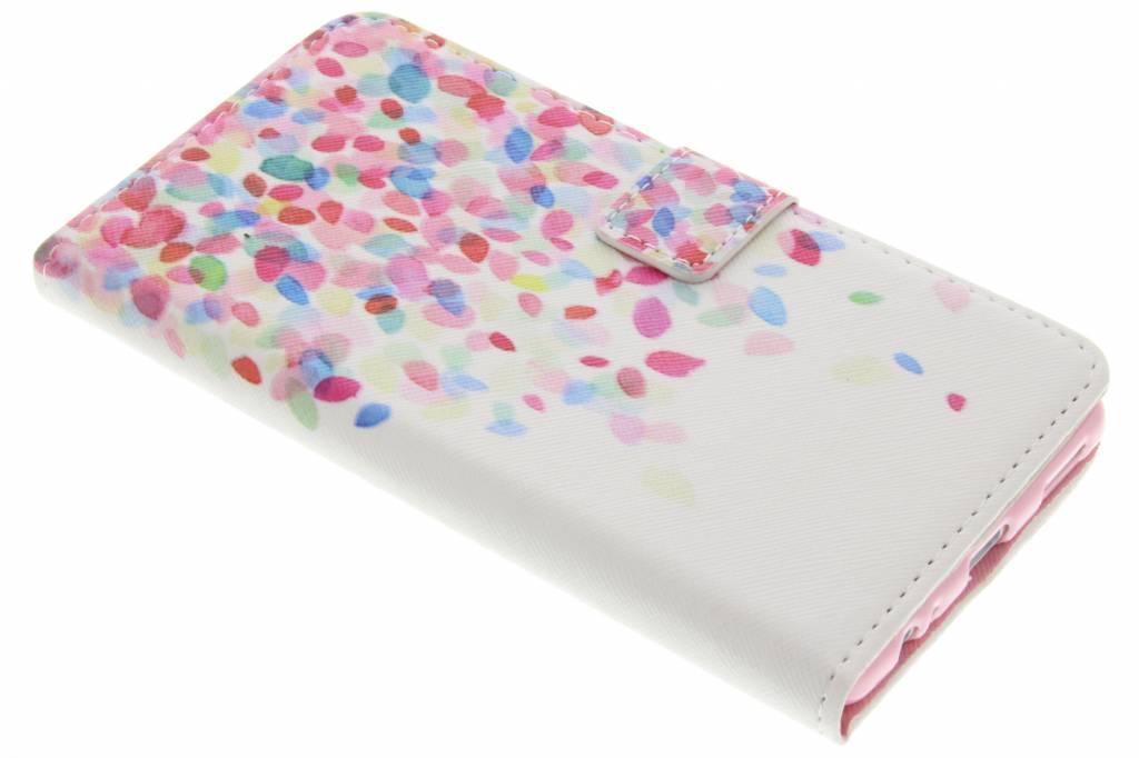 Confetti design TPU booktype hoes voor de Huawei P9 Plus