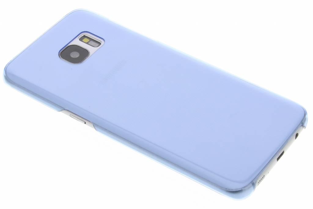 Blauwe transparante hardcase voor de Samsung Galaxy S7 Edge