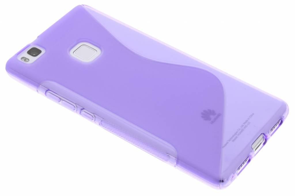 Paars S-line TPU hoesje voor de Huawei P9 Lite