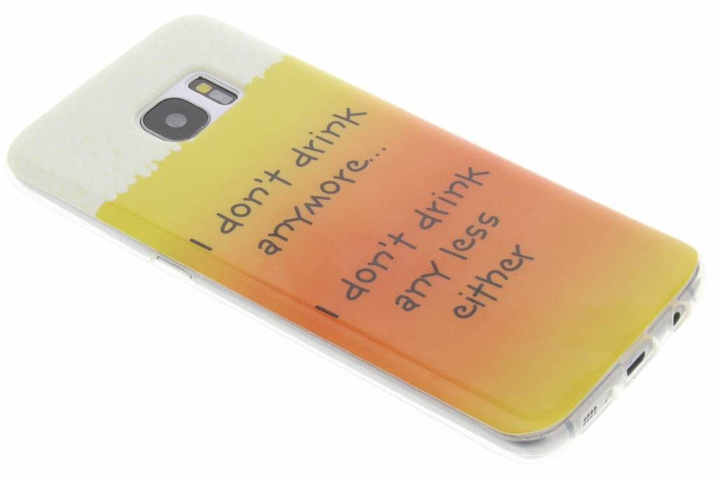 Drink design TPU siliconen hoesje voor de Samsung Galaxy S7 Edge