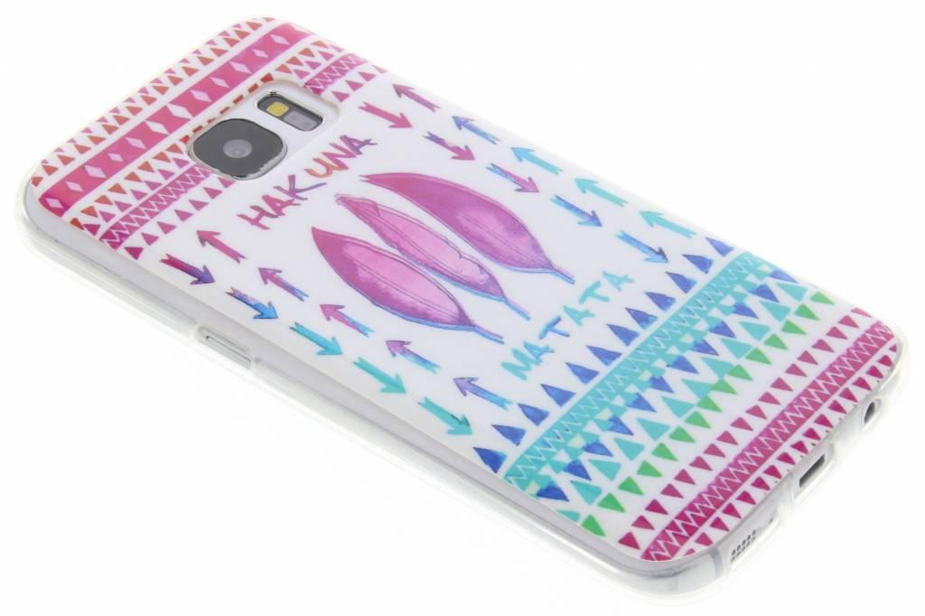 Hakuna Matata design TPU siliconen hoesje voor de Samsung Galaxy S7