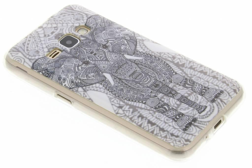 Olifant design TPU siliconen hoesje voor de Samsung Galaxy J1 (2016)