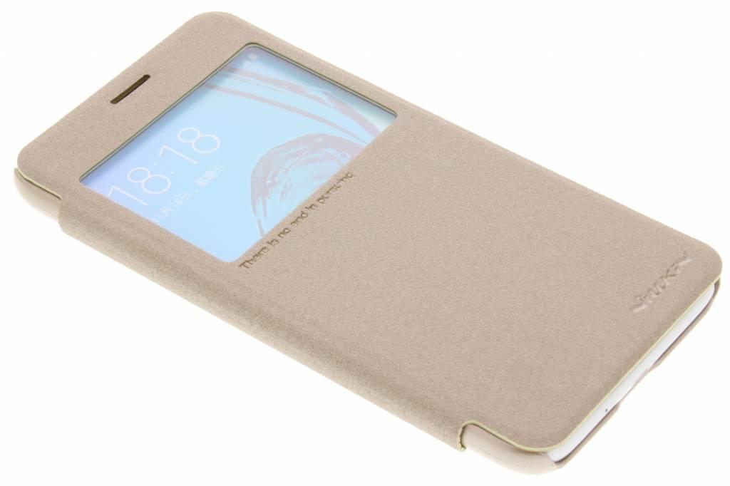 Nillkin Sparkle slim booktype hoes voor de Samsung Galaxy J3 / J3 (2016) - Goud
