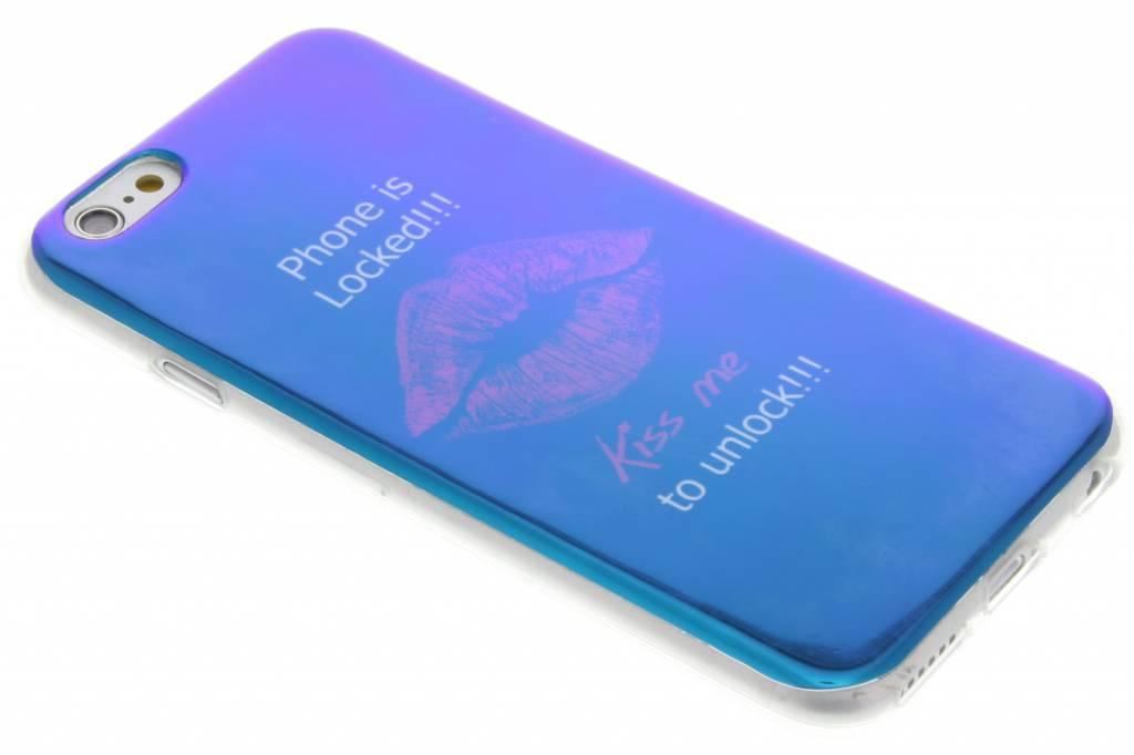 Metallic Kiss design TPU siliconen hoesje voor de iPhone 6 / 6s