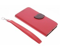 Rood blad design booktype hoes Huawei Nexus 6P