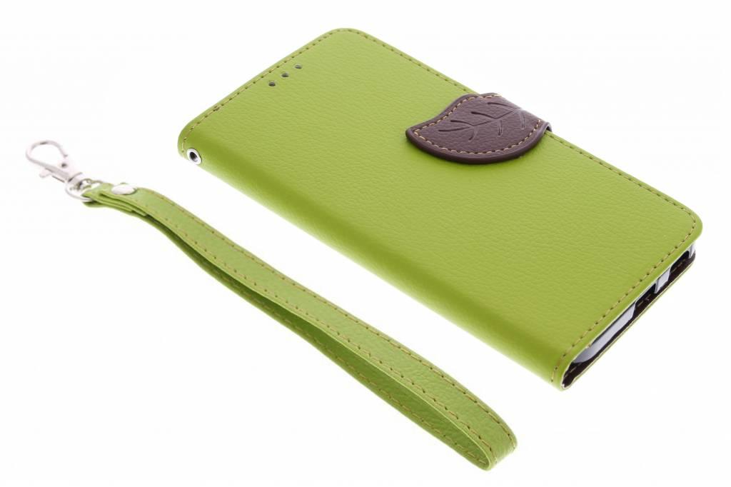 Groene blad design booktype hoes voor de LG Nexus 5X