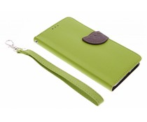 Groen blad design booktype hoes Microsoft Lumia 640 XL