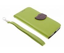 Groen blad design booktype hoes Motorola Moto X Style