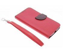 Rood blad design booktype hoes Motorola Moto X Style