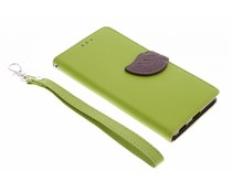 Groen blad design booktype hoes Sony Xperia M5