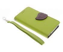 Groen blad design TPU booktype hoes Acer Liquid Z220