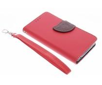 Rood blad design TPU booktype hoes Acer Liquid Z520