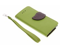 Groen blad design TPU booktype hoes iPod Touch 5g / 6