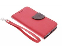 Rood blad design TPU booktype hoes LG G3 S