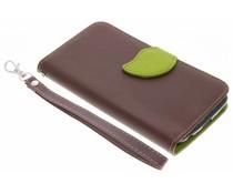 Bruin blad design TPU booktype hoes LG K10