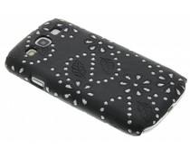 Zwart bloemblad design hardcase Samsung Galaxy S3 / Neo