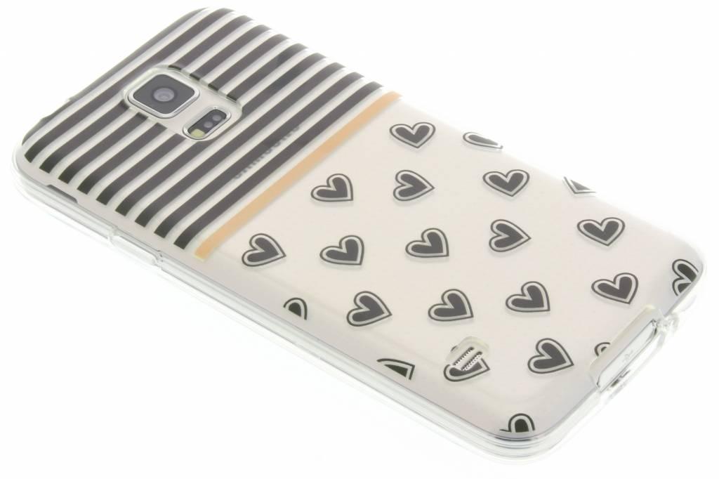 Streep design TPU siliconen hoesje voor de Samsung Galaxy S5 (Plus) / Neo