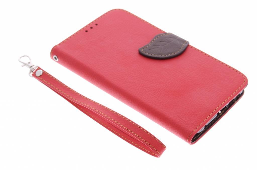 Rode blad design TPU booktype hoes voor de Samsung Galaxy A7