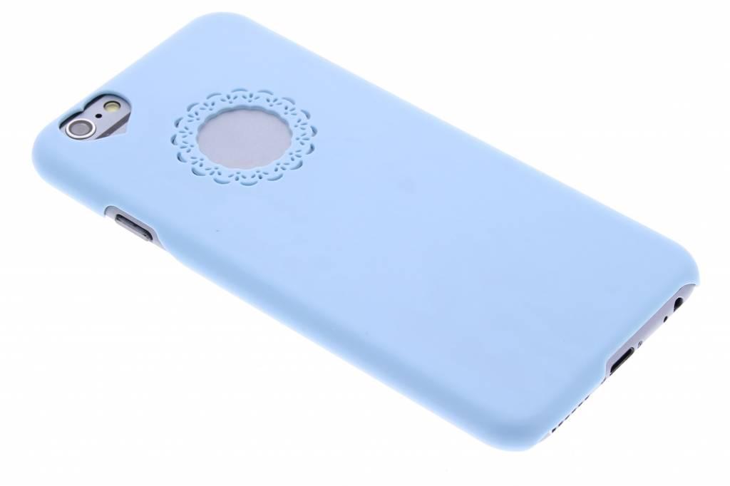 Blauwe romantische effen hardcase met ornament voor de iPhone 6 / 6s