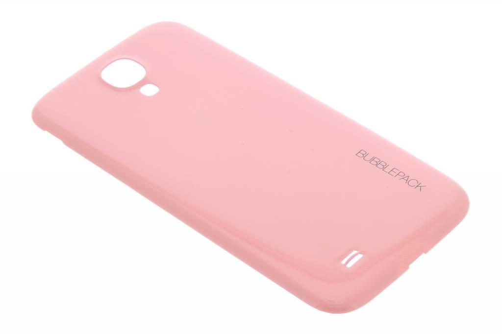 Roze bubblepack batterij cover voor de Samsung Galaxy S4