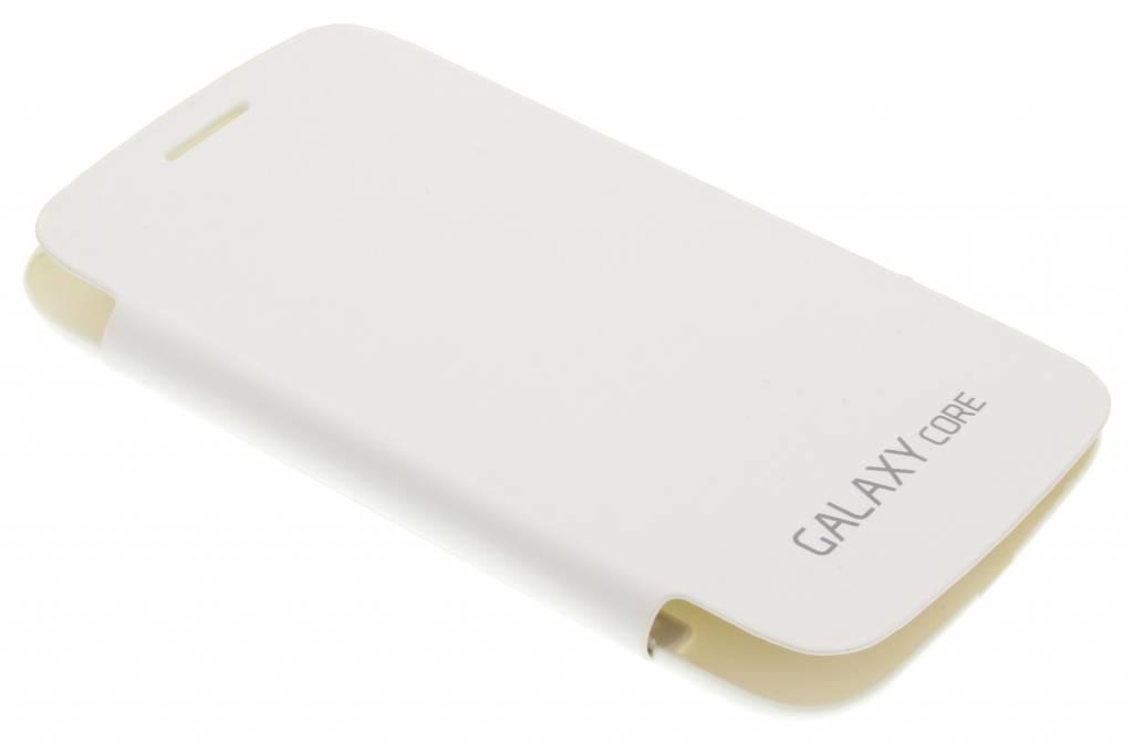 Witte flipcover voor de Samsung Galaxy Core