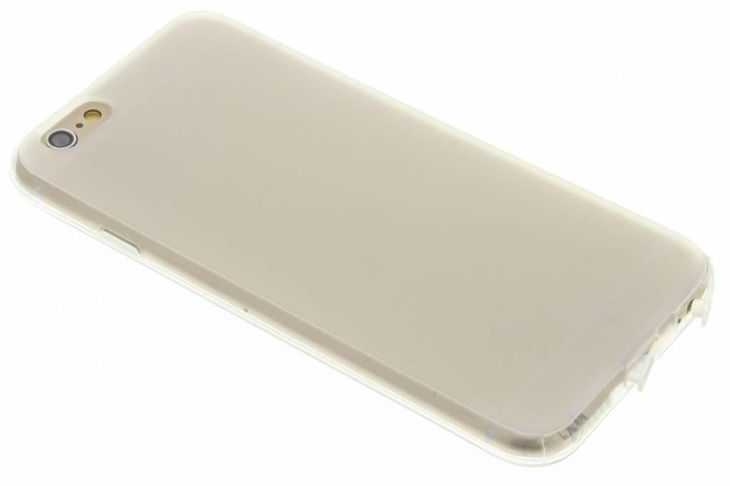 Transparant siliconen booktype voor de iPhone 6 / 6s