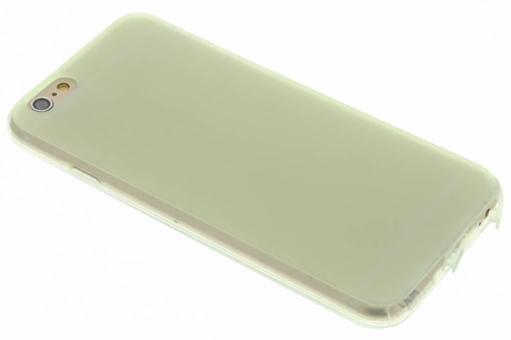 Groen transparant siliconen booktype voor de iPhone 6 / 6s