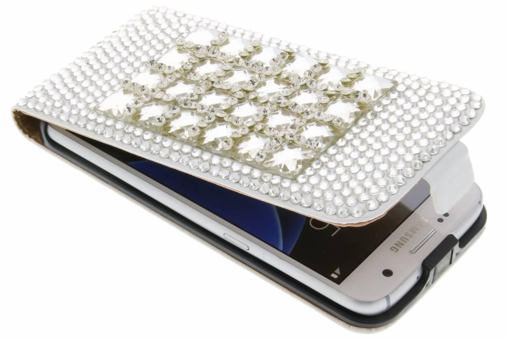 Glazen strass flipcase voor de Samsung Galaxy S7