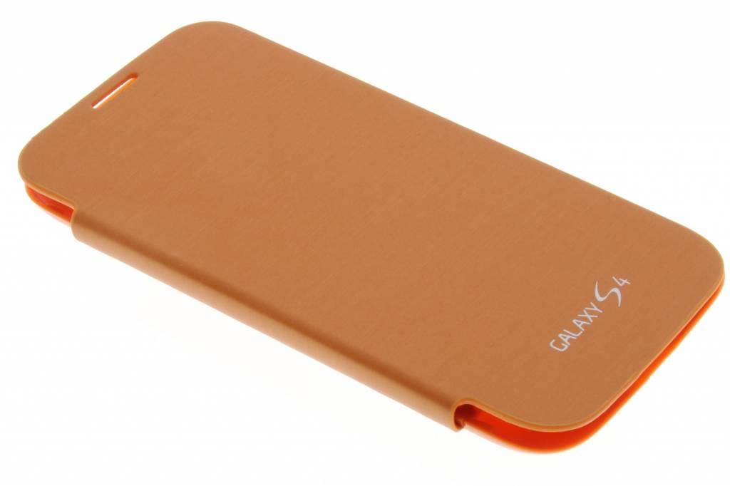 Oranje flipcover voor de Samsung Galaxy s4 i9500