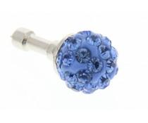 Lila bolletjes design anti-stof dust plug