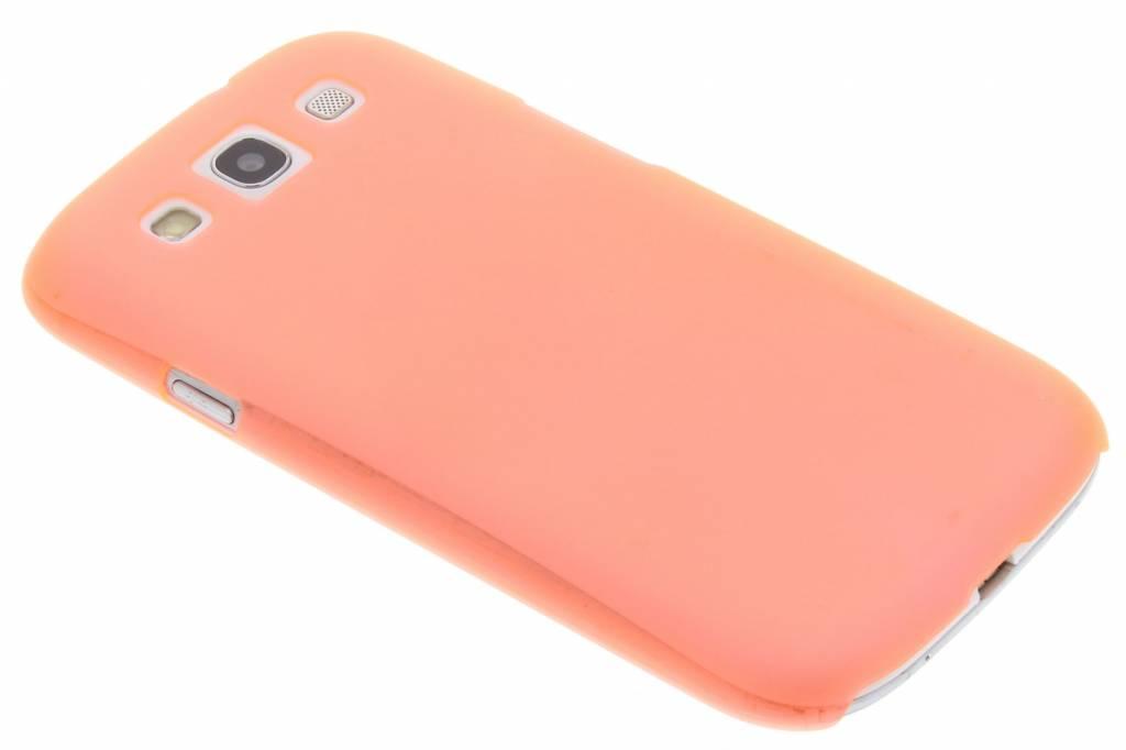 Oranje mat transparant hardcase hoesje voor de Samsung Galaxy S3 / Neo