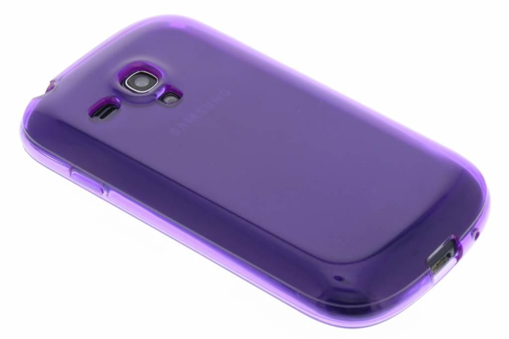 Paars transparante gel case voor de Samsung Galaxy S3 Mini