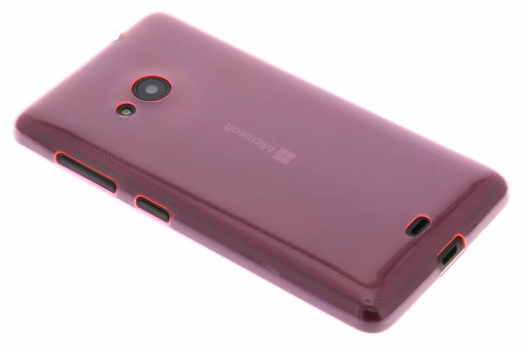 Roze ultra thin transparant TPU hoesje voor de Microsoft Lumia 535