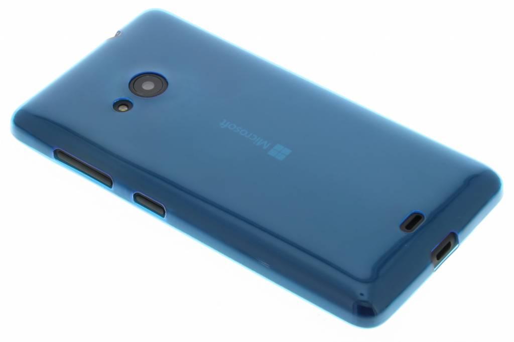 Blauw ultra thin transparant TPU hoesje voor de Microsoft Lumia 535