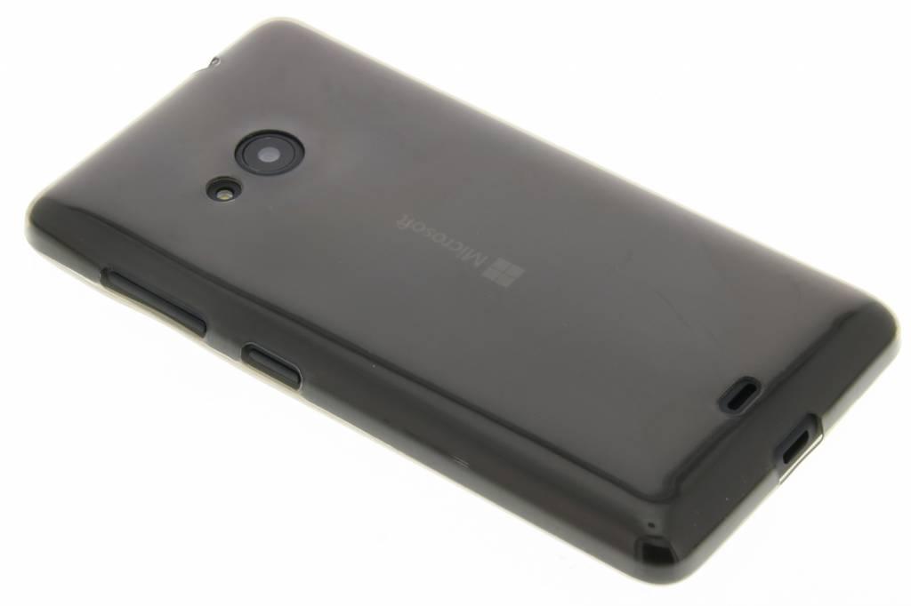 Grijs ultra thin transparant TPU hoesje voor de Microsoft Lumia 535