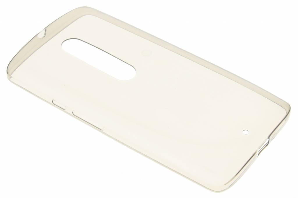 Grijs Ultra thin transparant TPU hoesje voor de Motorola Moto X Play