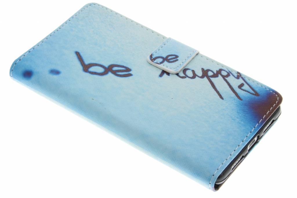 Be happy design TPU booktype hoes voor de Huawei P9 Lite